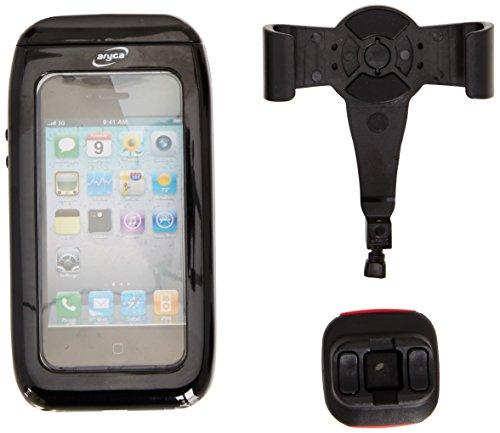 KLICKfix Lenker Smartphonetasche Aricase für Iphone 4/4S, Transparent/Schwarz, 2711