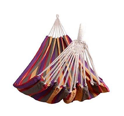 Hängematte für den Garten, Pool oder Strand, Camping, mehrfarbig, 70% Baumwolle, 210 x 150 cm,...