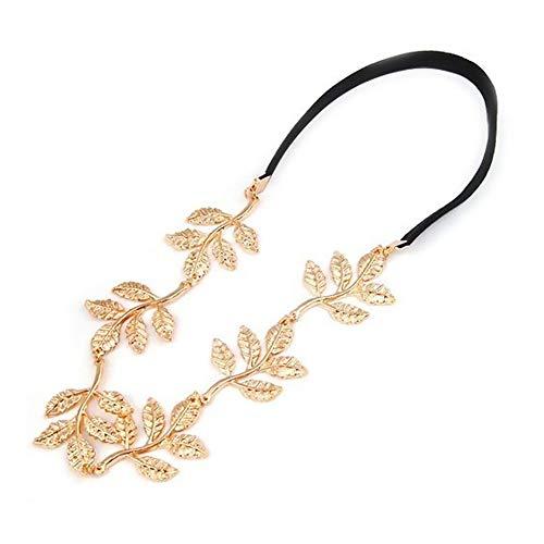 Haar Griechische Kostüm Göttin - Elegantes Stirnband mit Goldenen Blättern Festival Hippie Kopf Haarband Party Haarschmuck für Damen