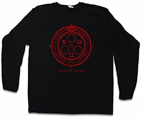 HALO OF THE SUN LOGO T-SHIRT à MANCHES LONGUES - Silent Horror Movie Hill Game Satanic Circle 666 Tailles S - 5XL