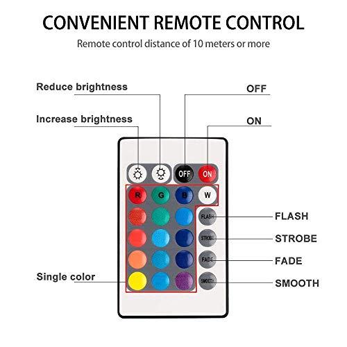 (Nasharia Unterwasser Licht, 4 Stück Unterwasser LED Licht mit Fernbedienung 10 LED RGB Multi Farbwechsel Wasserdichte LED Leuchten für Vase Base, Holloween Teich, Party, Hochzeit,Aquarium)