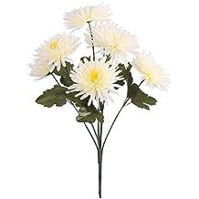 Chrysantheme lila//weiss 40 cm Kunstpflanze kunstblume künstliche Deko