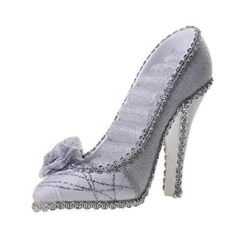 Prettyia High Heel Schuh Schmuckständer Ringhalter Schmuckhalter Ohrring Ständer - Silber, 5,91 x 4.72inch