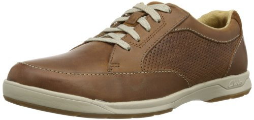 Clarks Herren Stafford Park5 Derby Braun (Tan Leather) 42 EU
