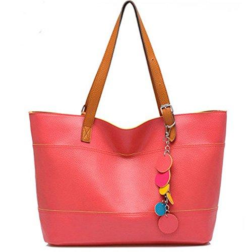 Myleas Donna Borsa a Tracolla Borsetta Shopper Borse Rosso