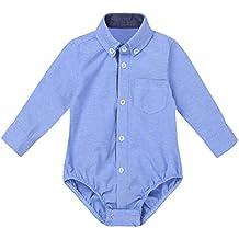 9932debf6 Agoky Ropa para Bebés Niños Camisas Manga Largo 2018 Ropa para Recién  Nacidos Bebe Monos Niños