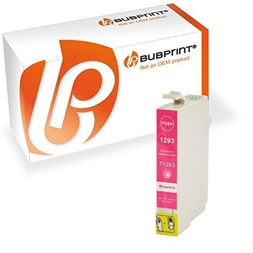 Bubprint Druckerpatrone kompatibel für Epson T1293 T 1293 Stylus SX435w SX 435 w SX420w SX 420w SX 445w WorkForce 630 WF 7515 3520 WF-7015 magenta