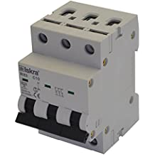 Eco-Line Fuse Circuit Breaker – MCB CIRCUIT BREAKER Type B 20 A 3-Pin 6 KA 400 V Price for 1 Each