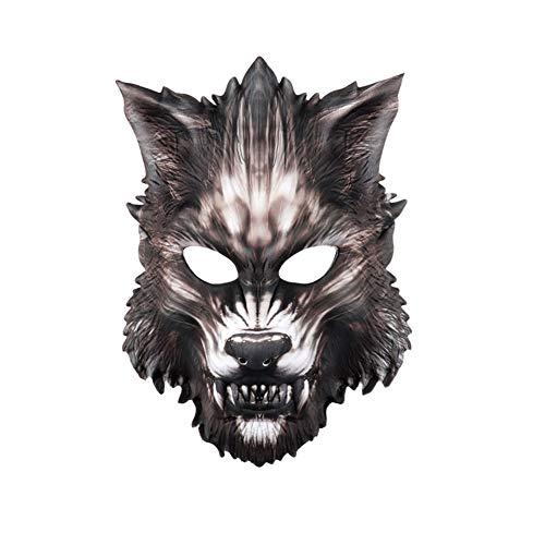 Teufel Maskerade Maske - Apofly 1Pcs Halloween Wolf Maske Eva