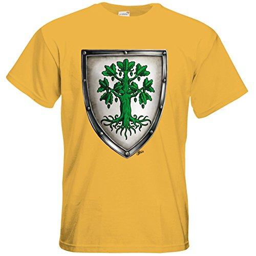 getshirts - Das Schwarze Auge - T-Shirt - Die streitenden Königreiche - Wappen Andergast L Gold