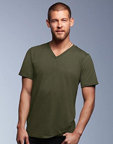 anvil Herren Fashion Basic V-Neck Tee / 982 City Green