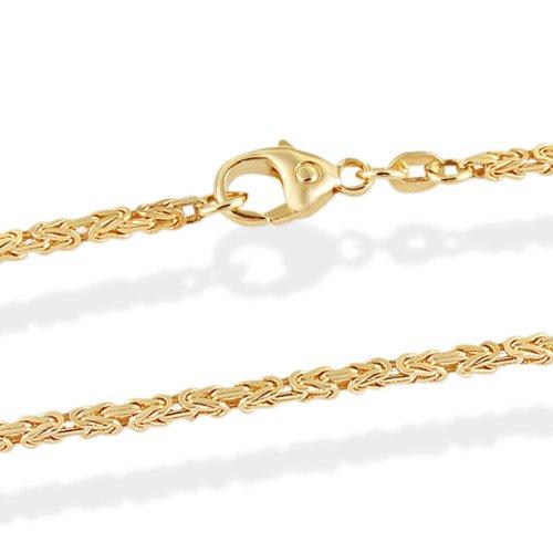 Goldmaid Unisex-Kette Königskette 585 Gelbgold 45 cm Karabinerverschluss Schmuck