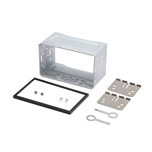 Yozhanhua - Caja de instalación para DVD, Marco de Radio estéreo de Metal Duradero de Doble Panel de Radio de 2 DIN, Marco de Montaje de Jaula