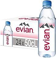 عبوة زجاجات مياه معدنية من ايفان، ماء شرب مصفى طبيعيًا، مياه معبئة 500 مل مصنوعة حسب الطبيعة، 24 زجاجة سعة 500