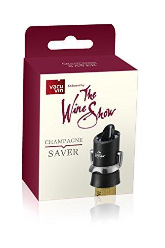 Der Wein Show von Vacu Vin Champagner Saver, schwarz (Jahr In Der Champagne)