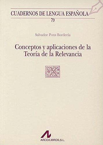 Conceptos y aplicaciones de la Teoría de la Relevancia (X cuadrado) 79 por UNKNOWN