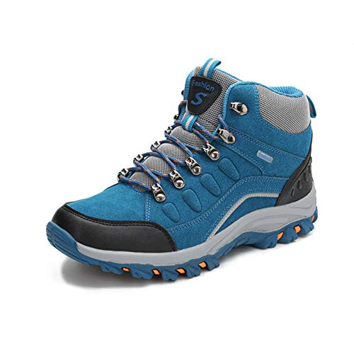 tqgold® Scarpe da Trekking Uomo Donna Scarpe da Escursionismo Impermeabile Stivali da Arrampicata All'aperto Sneakers(Blu,42 EU)