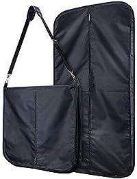 Hangerworld 2 Porta Traje 112cm Asa Regulable Tipo Bandolera Nilón Impermeable Negro con Cremallera