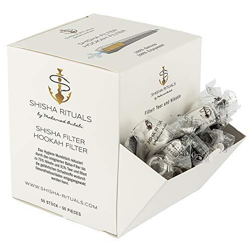 Shisha Filter | Shisha-Mundstück mit integriertem Filter aus Balsa-Holz, filtert Teer und Nikotin, natürliches Zubehör für Wasserpfeifen-Set, gesünderes Rauchen, weniger Risiken