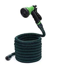 Idea Regalo - Somera Tubo irrigazione estensibile da giardino con pistola ed attacco per rubinetti I Tubo acqua espansibile per innaffiare