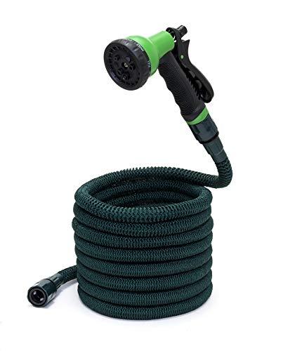 Somera Manguera jardín extensible con pistola de riego y adaptador para grifos de agua