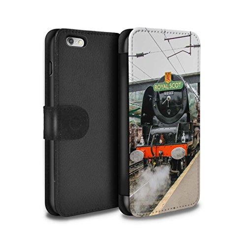 Stuff4 Coque/Etui/Housse Cuir PU Case/Cover pour Apple iPhone 6S+/Plus / Pack 20pcs Design / Locomotive Vapeur Collection Duchess/Gare