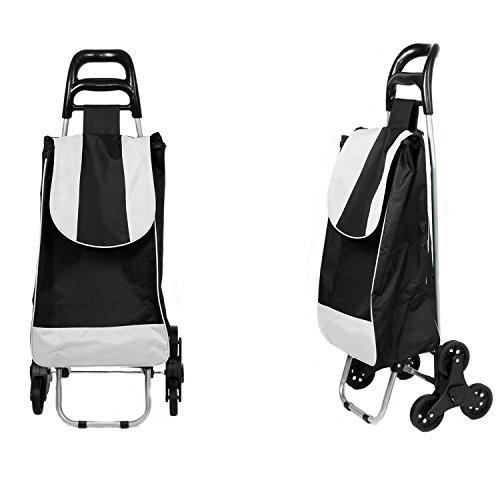 Einkaufswagen Einkaufsroller Einkaufshilfe Einkaufstrolley Trolley Treppensteiger Schwarz Grau, Varianten:Schwarz