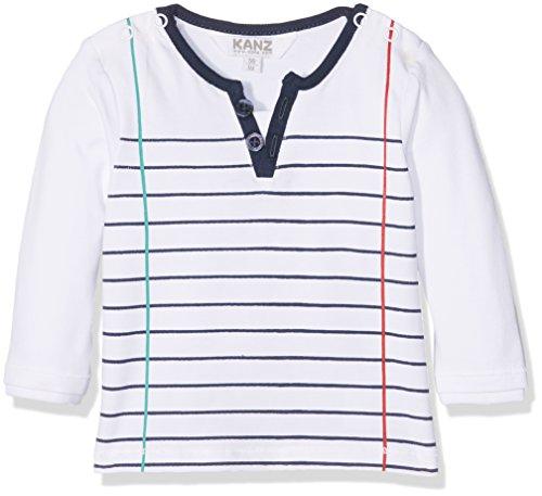 Kanz Baby-Jungen Langarmshirt T-Shirt 1/1 Arm Weiß (Bright White 1000), 56