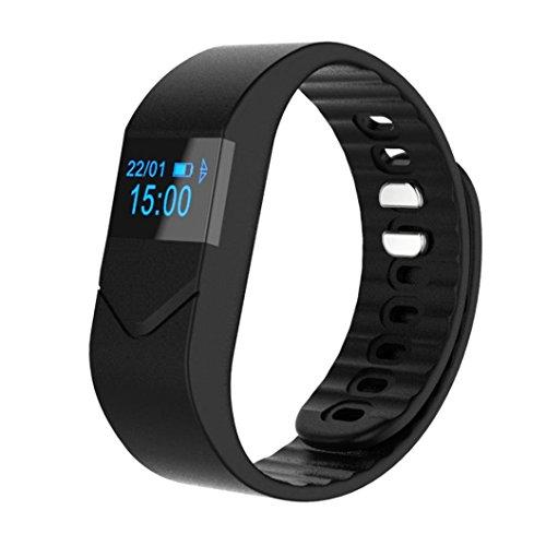 Smartwatch,Fulltime® M5S Bluetooth 4.0 Etanche Vérifier Fréquence Cardiaque Moniteur Calorie Tracker Sport Poignet Podomètre Tactile Connectée Alculatrice,Suivi Sommeil, Numéroteur Compatible Avec Android 4.4 /4.5 /5.0 /5.1, IOS 7.1 8.0 8.1 Contrôler de la Caméra à Distance