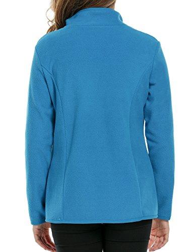 ZEARO Mantel Jacke Damen Parka Wintermantel Winterjacke Zipper Jacket Standplatz-Kragen Sport Outwear Blau