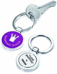 Troika - Schlüsselanhänger SHOPPING QUEEN mit Einkaufswagen-Chip