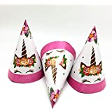 Partysanthe Unicorn Theme Party Decoration Supplies Kids Happy Birthday Hat/Unicorn Logo Theme hat