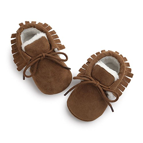 Moresave , {Chaussures premiers pas pour bébé (garçon) Café