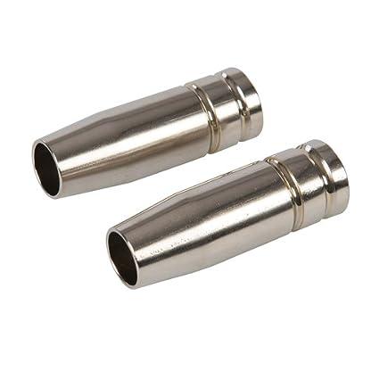 Silverline 615322 Boquillas para soldador MIG, 0 V, Negro, Set de 2 Piezas