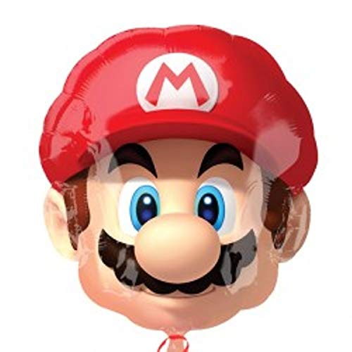 Super Mario Kopf Supershape Folienballon 21