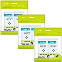 Freshca Hand Sanitizing Wet Wipes Single Sachet Aloe Vera Neem Extracts Alcohol Based Formula pH Balanced Paraben Silicon SLS Free 20 Pcs (Pack of 3)