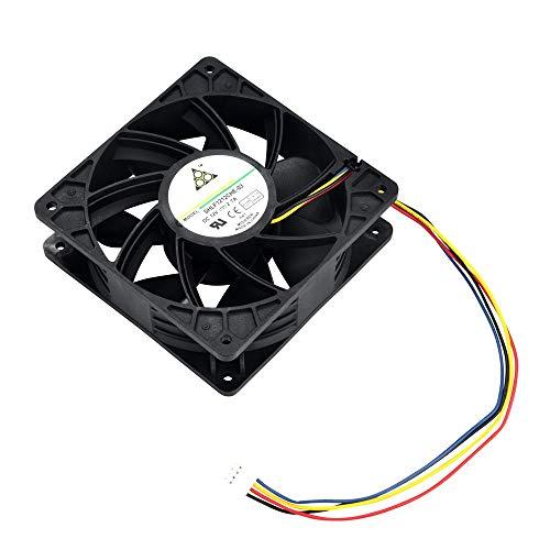 CAOQAO Für Lüfterkühlung 4-poliger Austausch bis 6000 Umdrehungen/Minute, Gehäuselüfter für PC-Gehäuse, Kühleraustausch, um Bitmain S7 S9 zu verhindern -