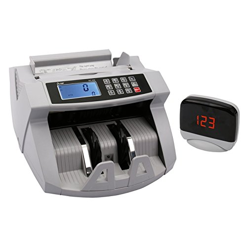 Olympia NC 450 Geldzähler (für Scheine, Echtheitsprüfung, Additionsfunktion, LCD-Display, Geldzähl-Maschine für Euro, Dollar, Pfund etc, Profi Geldscheinzähler mit Update-Funktion)