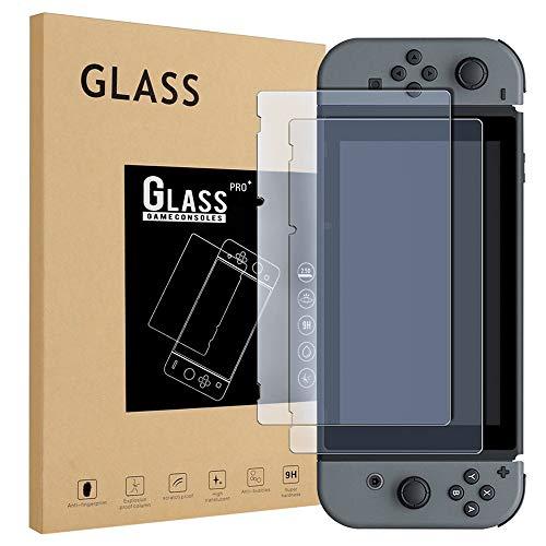 Schutzfolie für Nintendo Switch, 2 Stück Glass Displayschutzfolie Glas Folie Panzerfolie Screen Protector
