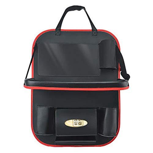 Organizer Auto PU-Leder-Auto-Rücksitz-Organisator-justierbare Auto-Sitz-Rücken-Speicher-Tasche (Farbe : Schwarz, Größe : Einheitsgröße) -