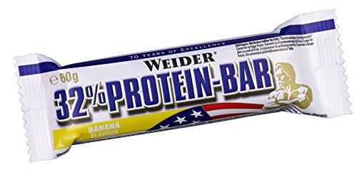 Weider 32% Protein Bar, Banane, 1er Pack (24x 60g Riegel) (Powerbar Banane)