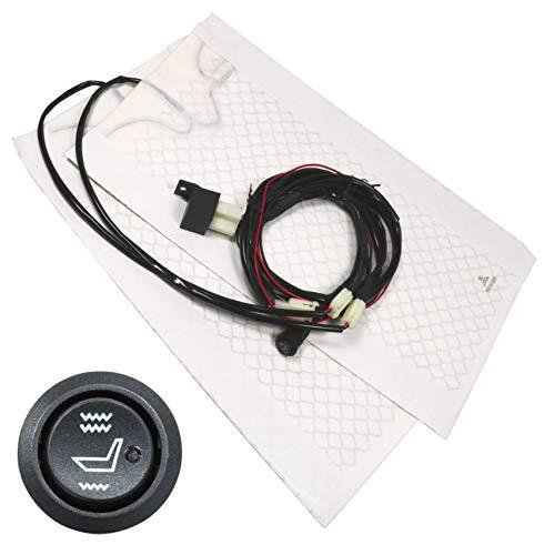 Electronicx Sitzheizung Carbon Zum Nachrüsten Universal 2 Heizmatten Runder Schalter Auto Sitz Heizung 2 Stufen Schalter