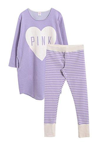 Mignon cerise molleton pyjama Set for Women Violet