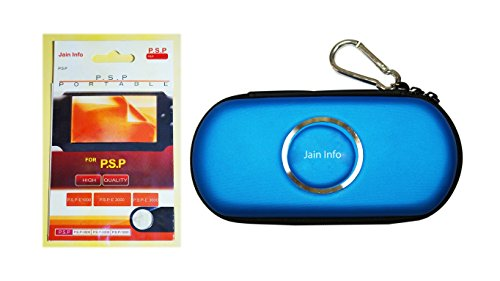 Jain Info Branded Zip Pouch/Case/Cover (Blue Color) For PSP With a Free Screen Guard
