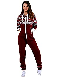 Juicy Trendz® Herren Onesie Overall Trainingsanzug Jogginganzug Einteiler Norweger Jumpsuit