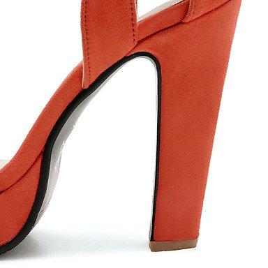 LvYuan Da donna-Sandali-Formale Casual Serata e festa-Altro-Quadrato-Felpato-Nero Rosa Arancione Black