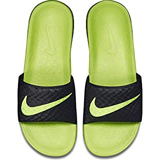 Nike Men's Benassi Solarsoft Beach & Pool Shoes, Black/Volt 070 8 UK