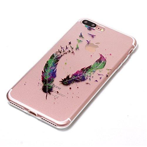 "Apple iPhone 7 Plus / 8 Plus 5.5"" Hülle, SATURCASE Schönes Muster Bling Ultra Dünn Weich TPU Gel Silikon Schützend Zurück Case Cover Handy Tasche Schutzhülle Handyhülle Hülle für Apple iPhone 7 Plus / Muster-1"
