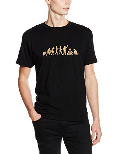 Shirtzshop T Shirt Bronze Edition Gleisbauer Gleisbau Bahn Zug Evolution, Schwarz, L, ss-evbro_gleisbau-t