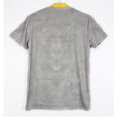 Pretty321 Men Women Unisex Hip Hop 3D Doggie Print Creative Couples T-Shirts Amazon